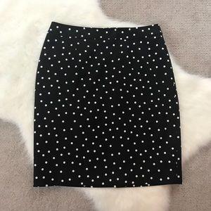 Halogen Polka Dot Pencil Skirt